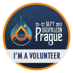 I'm a volunteer at DrupalCon Prague